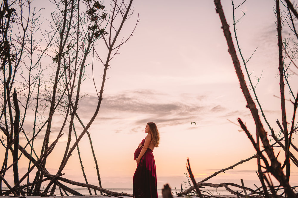 Tampa bay sunset photo shoot, maternity portraits