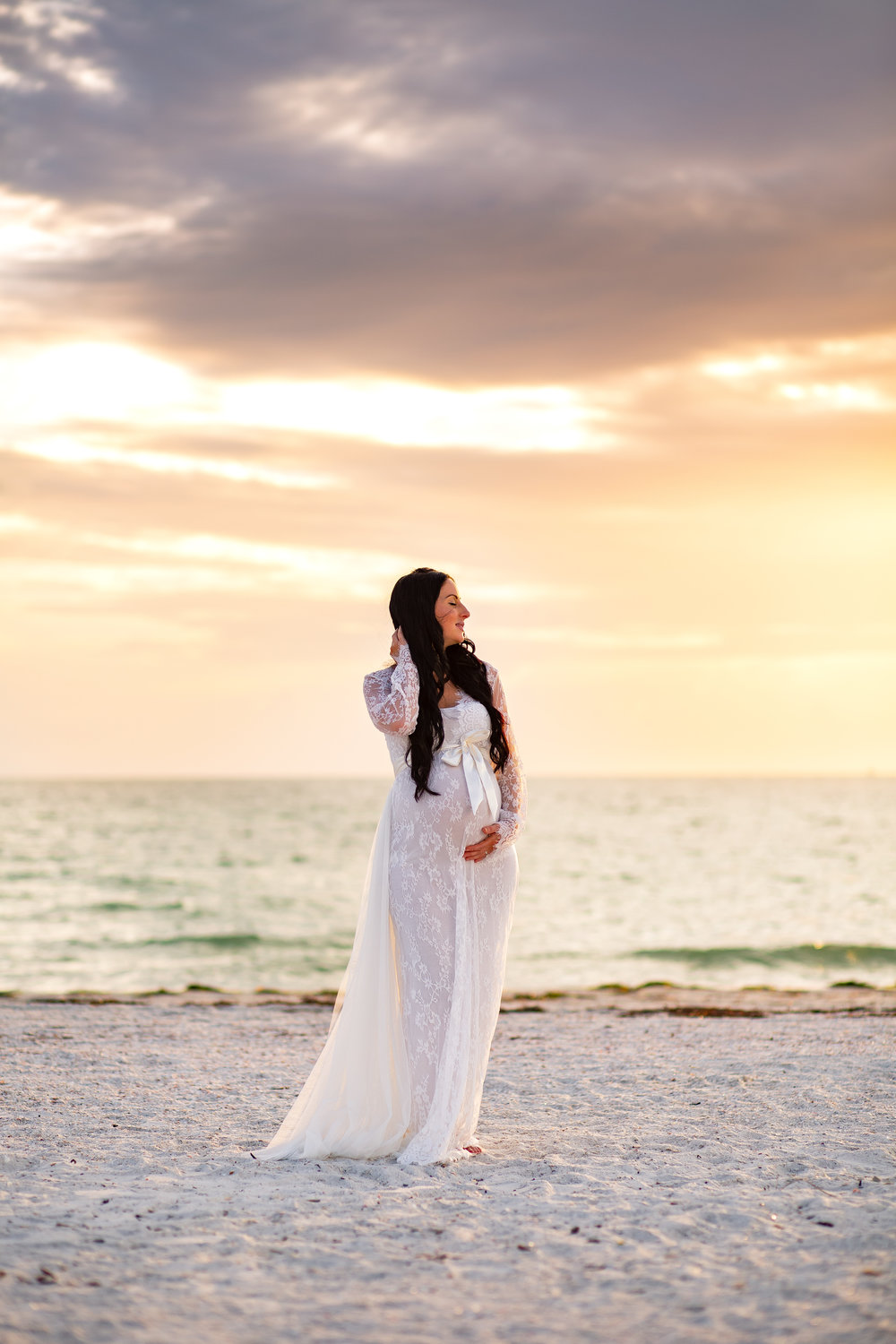 sunset maternity pictures, tampa fl