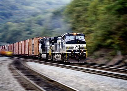 Norfolk Southern Train in Goshen, Indiana