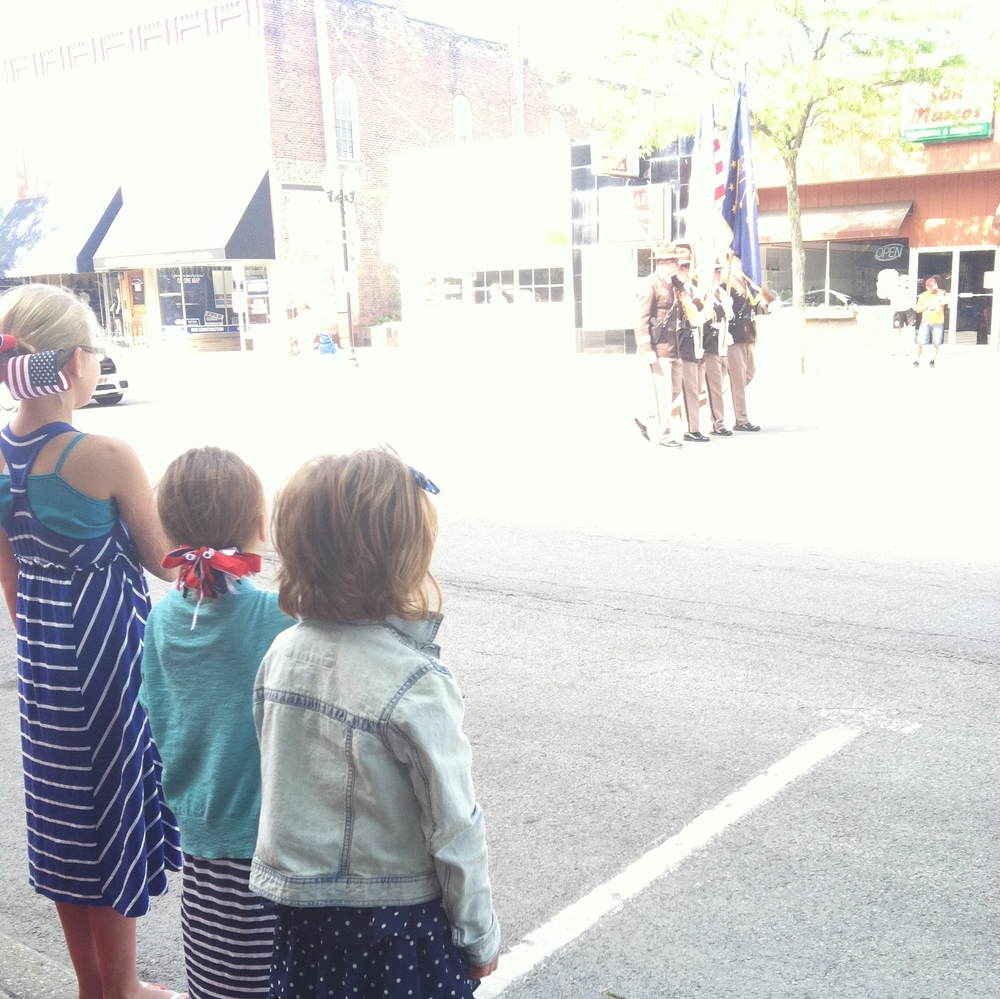 downtown Goshen ind.'s Memorial Day parade on May 26, 2014.