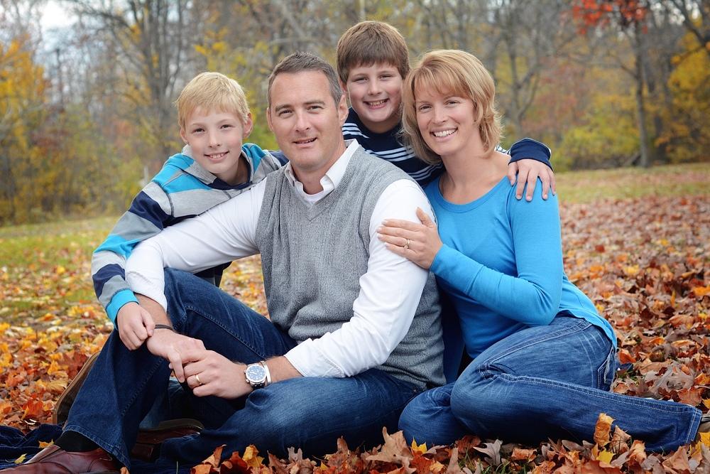 The Weddell Family: Brett, Robin, Lleyton and Merrill.