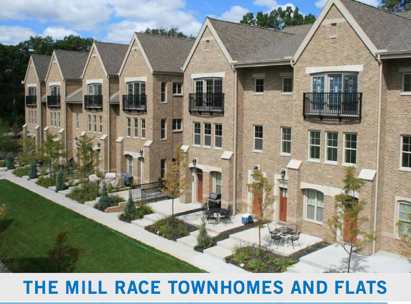 matthews, llc, developer from south bend, indiana, plans to develop townhouses and flats along the millrace canal