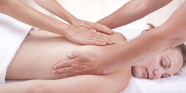 Four-hand Ayurvedic massage back
