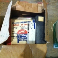 0045: Box of Legal Pads, Docs and Polit Binder (1964)