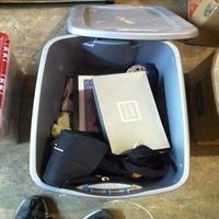 0051: Plastic Bin of Misc Items, Photos