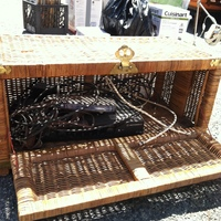 0295: Wicker Chest with Cable Box/ Modem Inside