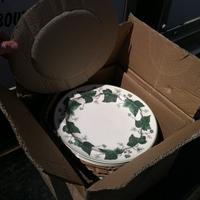 0301: Box of Grandma Beale's China Plates