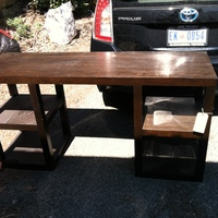 0292: Long Wood Table (Black)