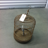 0173: Wood Birdcage