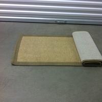 0186: Small Woven Rug (Tan)
