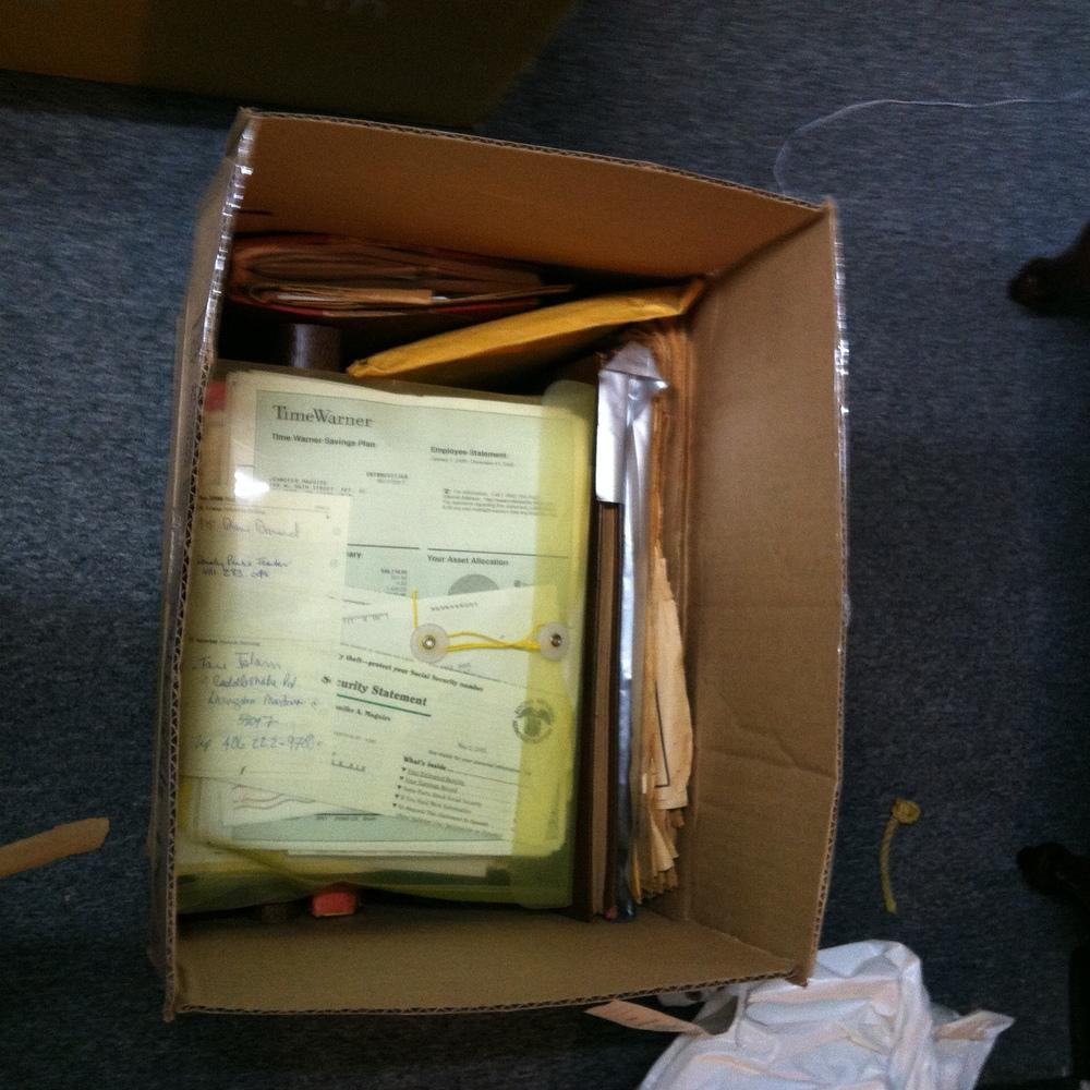 "0342: Box- Marked ""Isham MBR/Files"""