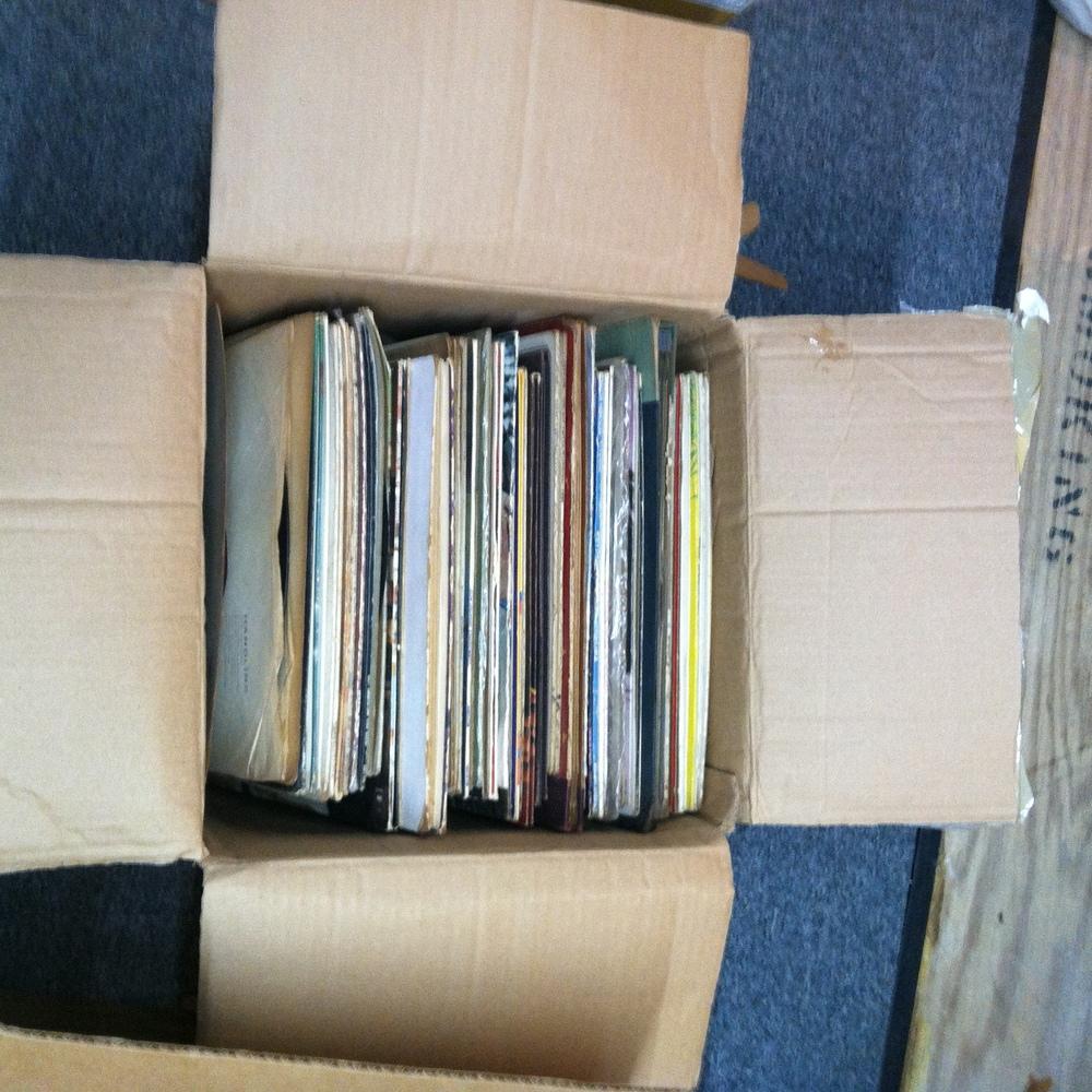 "0346: Box- Marked ""JM LP's"""