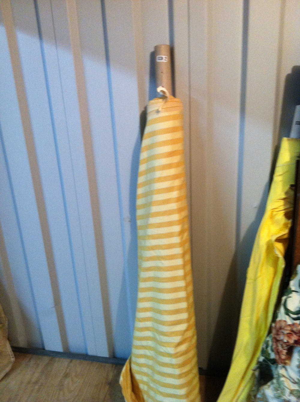 0362: Fabric- Gold/Tan Stripes