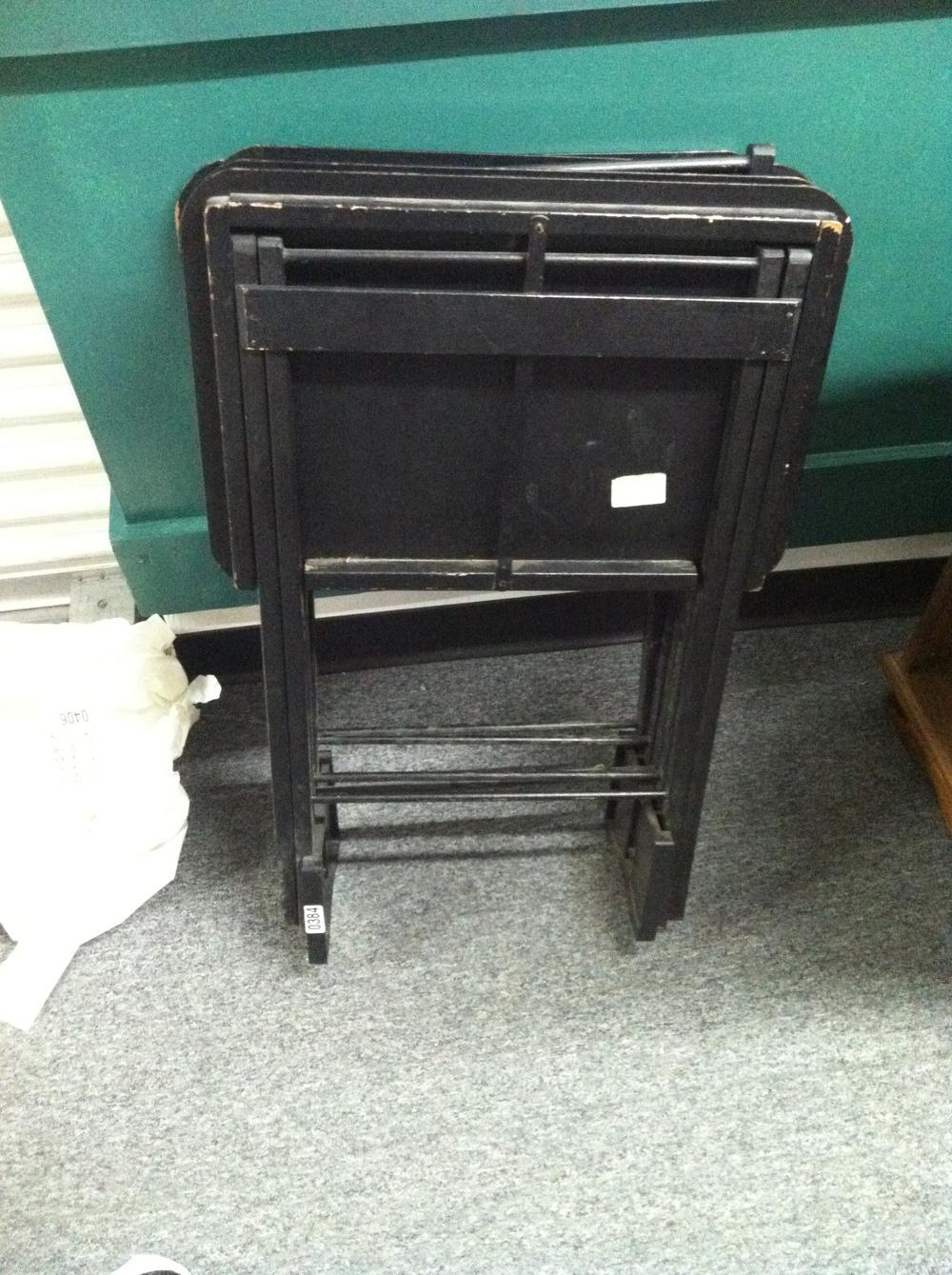 0384: Small Black Folding Table