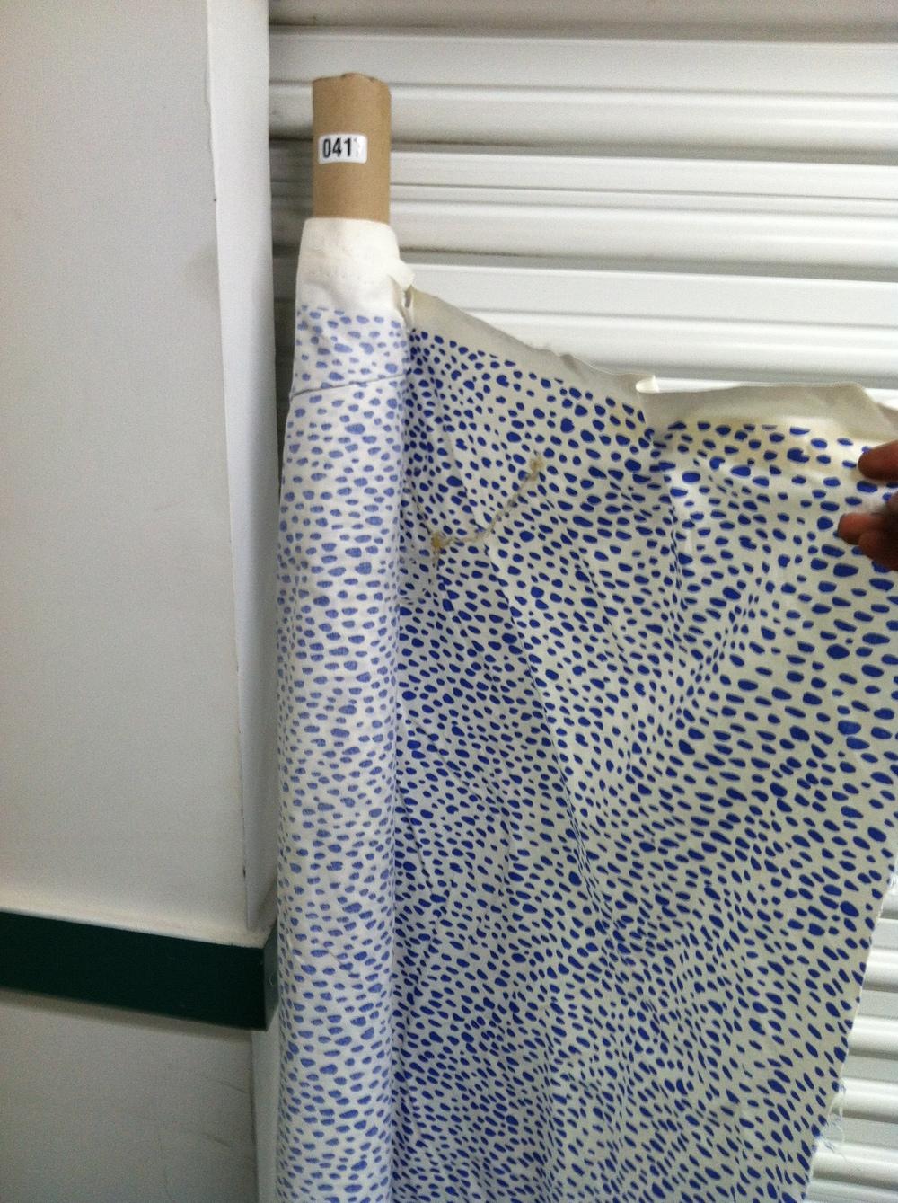 0417: Fabric- Blue Dot Pattern