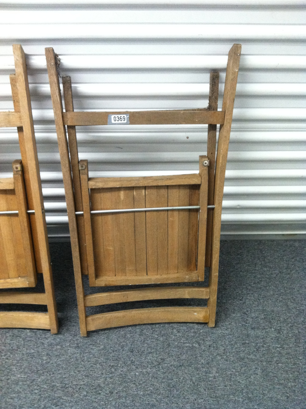 0369: Wood Folding Chair