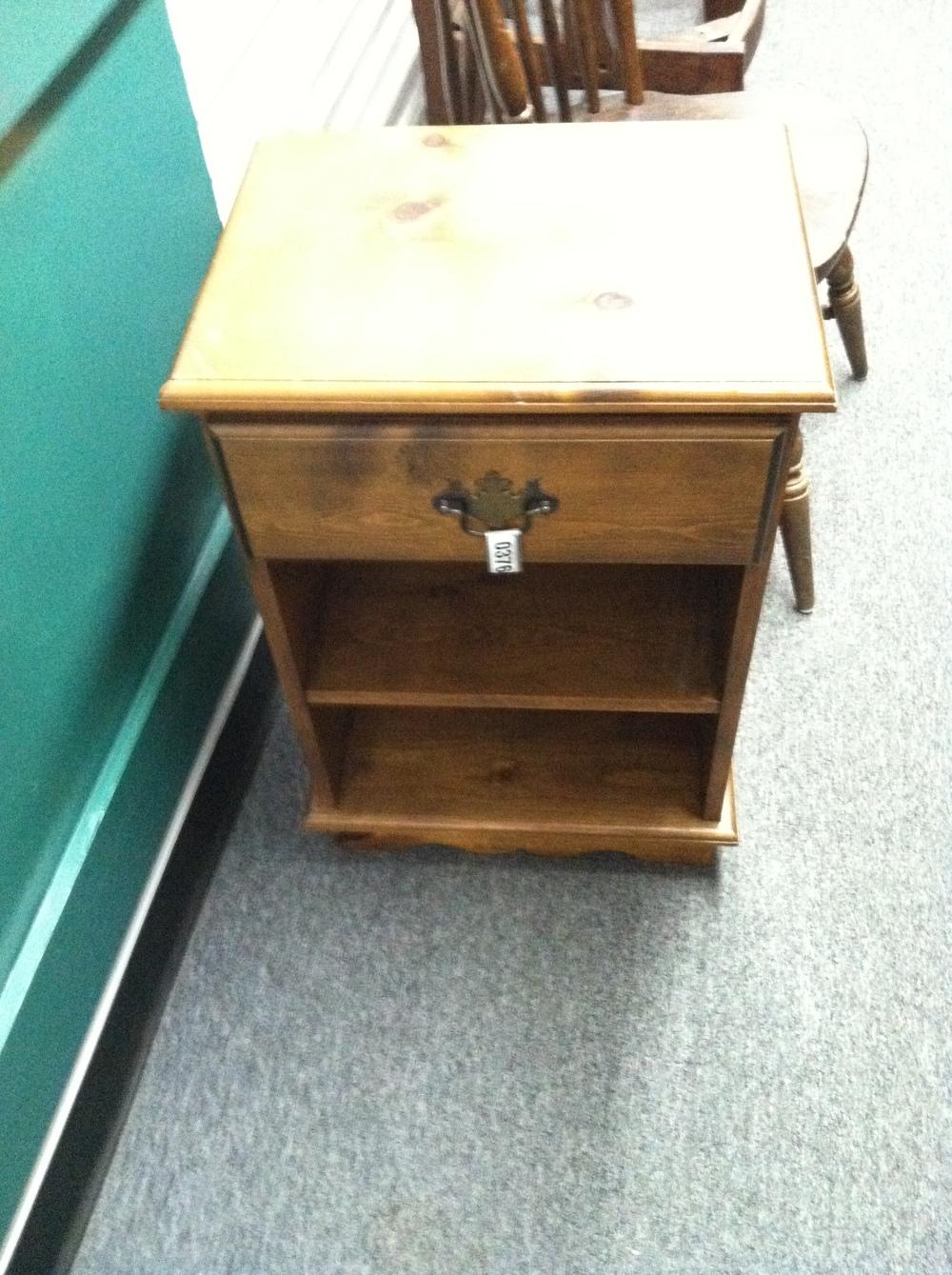 0376: Small Wood Shelf / Bedside Table
