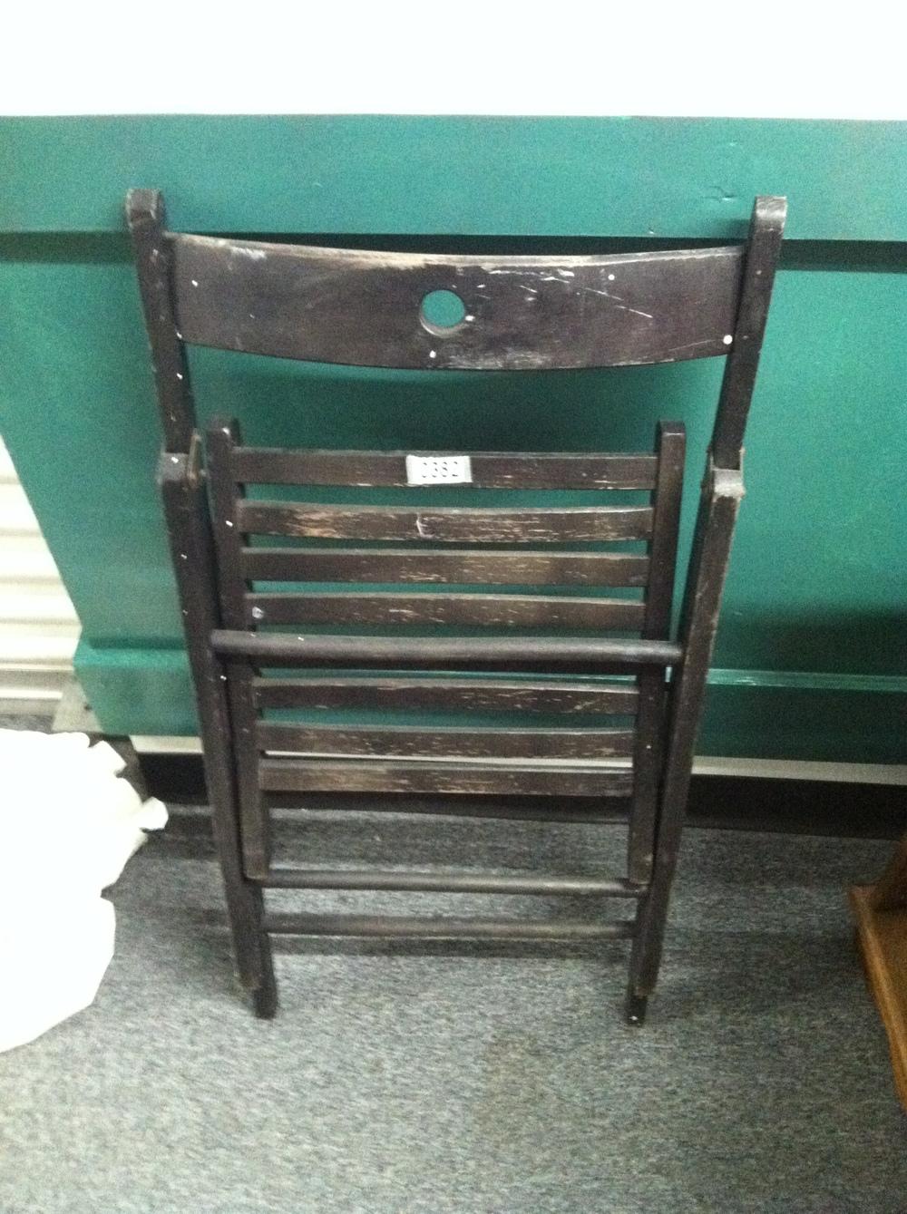 0382: Wood Folding Chair