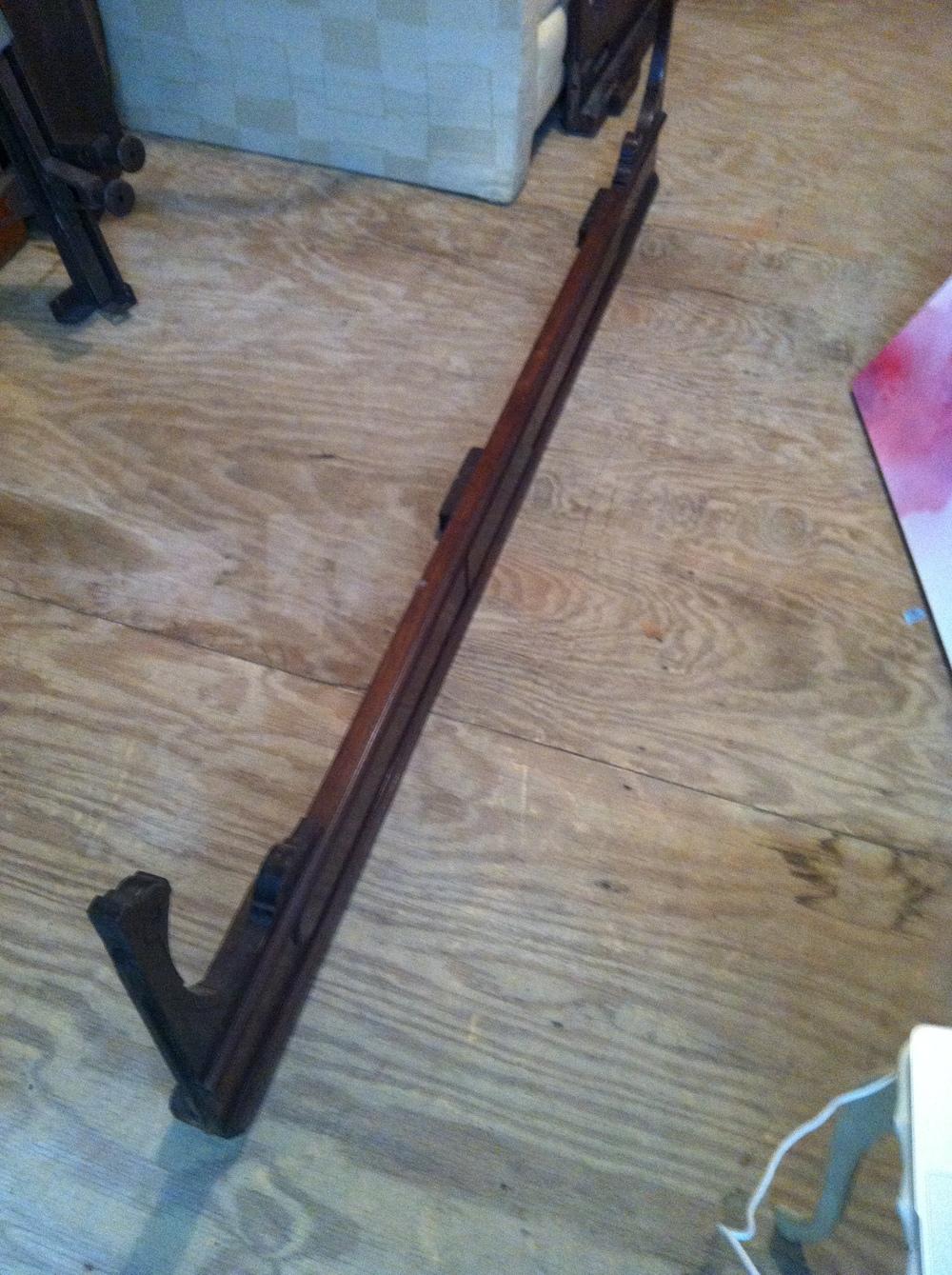 0423: Wood Bed- Sideboard