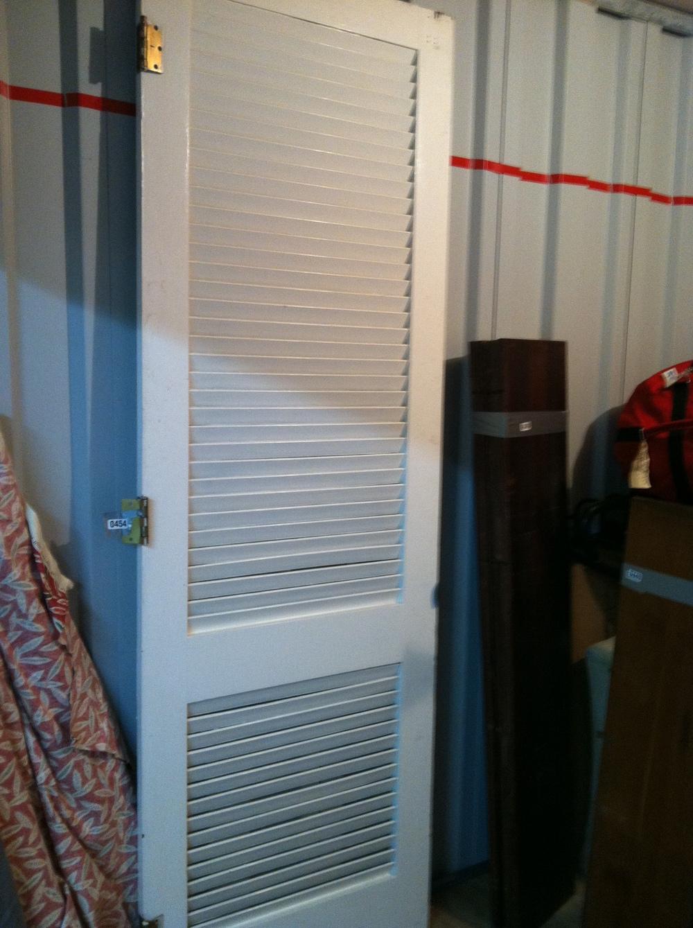 0454: White Slated Door