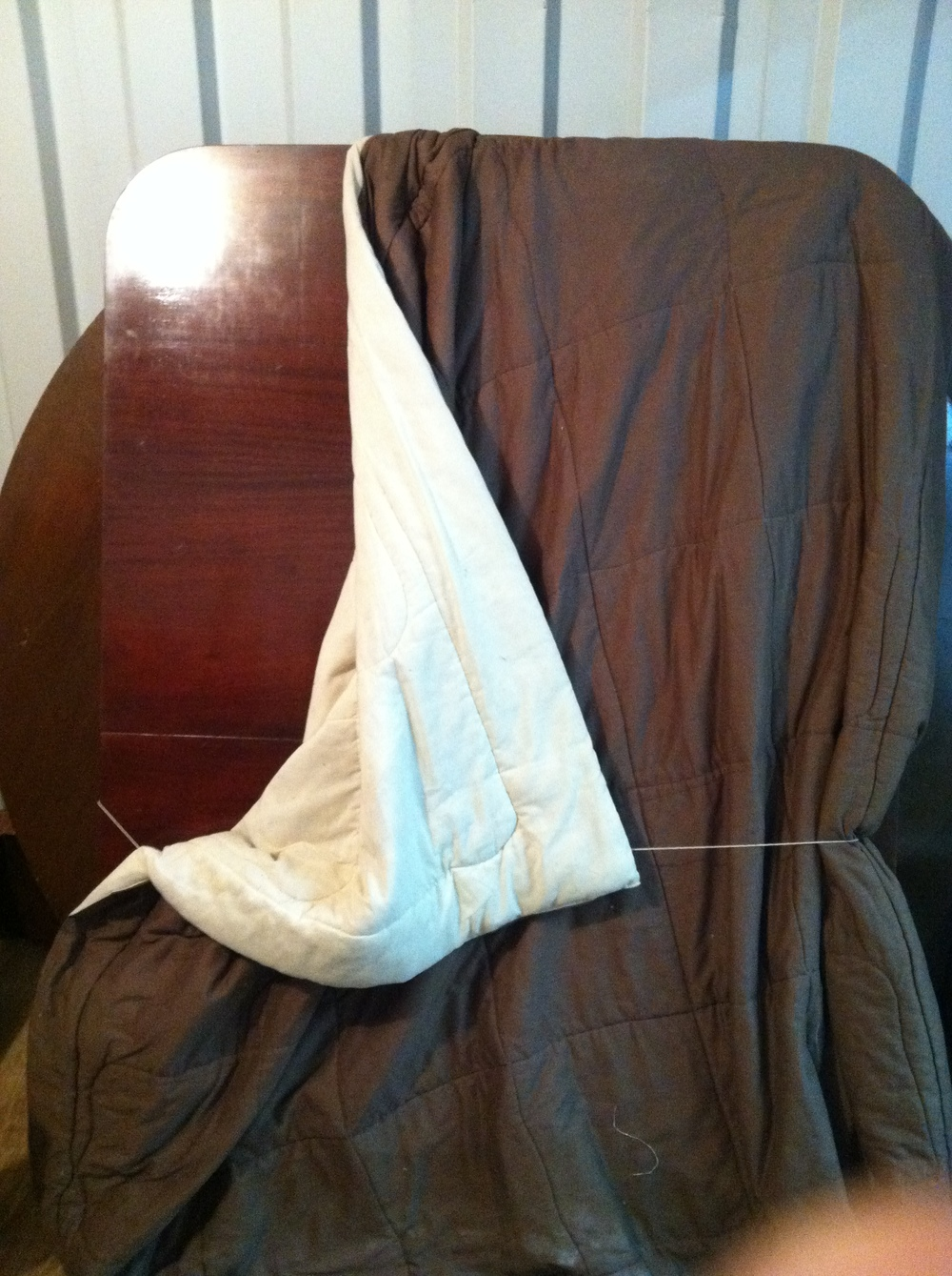 0457: Rectangular Wood Table Top (wrapped in blanket)