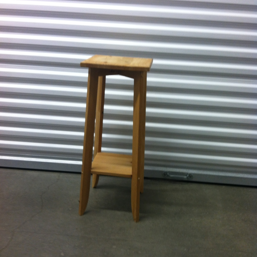 0112: Small Wood Stool