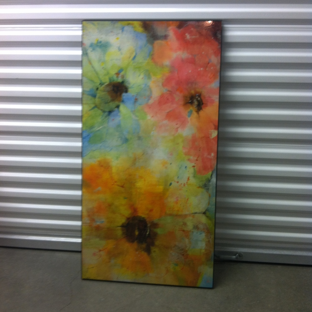 0118: Flower Painting on Canvas