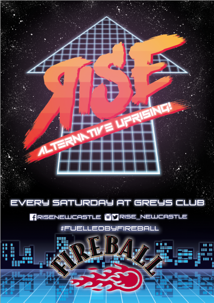 Rise Club Newcastle Poster and Logo design