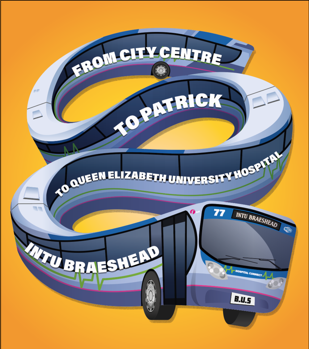 bendy Bus illustration for First Glasgow