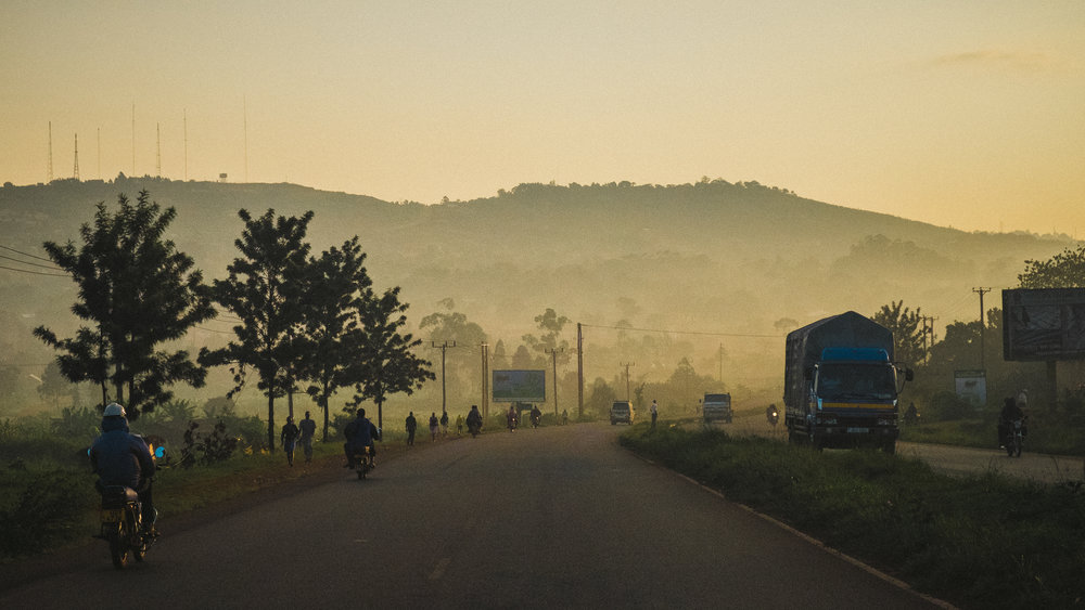 This was taken just outside Kampala, the evening that we arrived. Difficult not to be inspired when the scenery looks this good.