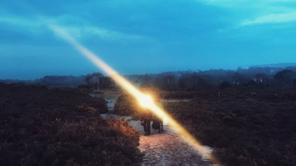 Our DOP casting supernatural light over the Studland scenery