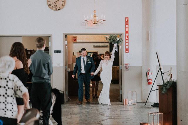 Walking into the weekend like... . . . .#wedding #receptionentrance #clevelandwedding #industrialspace #weddinginspo #reception @weddingwire @theknot @thevenuereport @allseated @theknotpro @brides