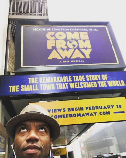 Rodney Hicks. Bob in Come From Away at the Gerald Schoenfeld Theatre. www.comefromaway.com