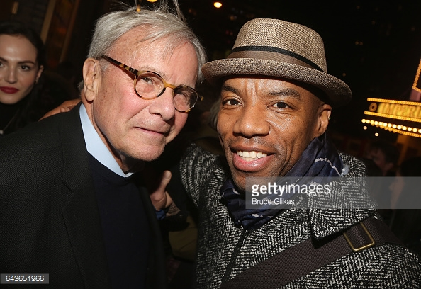 Tom Brokaw and Rodney Hicks at Come From Away. Photo By Bruce Gilkas