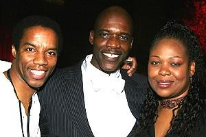 with Byron Utley and Gwen Stewart at the 10th Anniversary celebration RENT  circa 2006