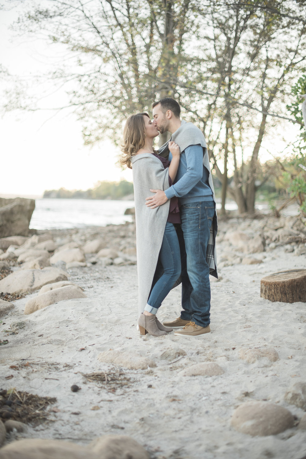 toronto beach engagement photos