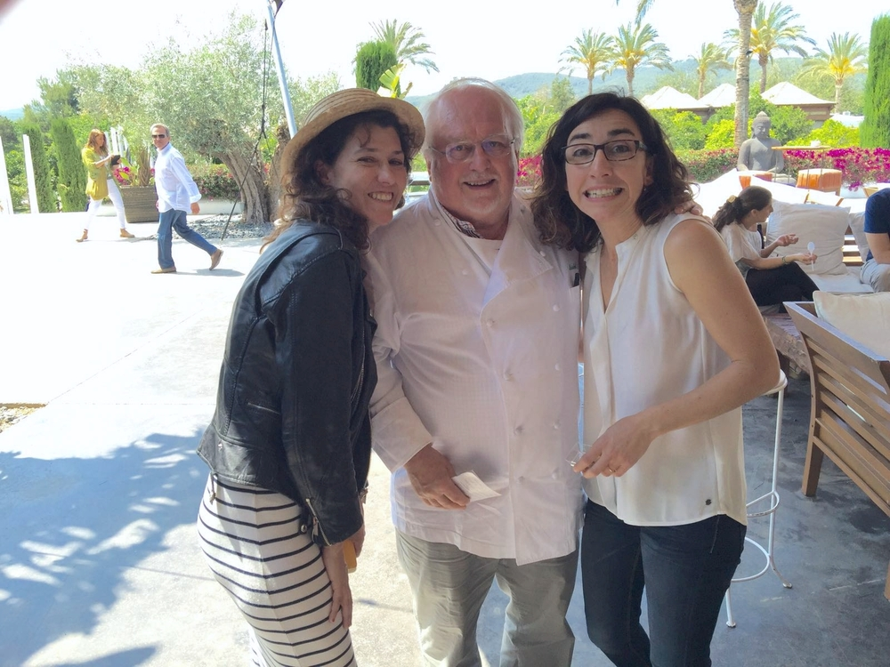 Con  Jean-Louis Neichel  y Sandra del restaurante Es Terral, en  Atzaró