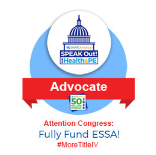 Speak Out day is coming soon, but one voice is not enough!  Follow the link below to email the South Dakota Congress and Advocate for #ESSA and #MoreTitleIV http://portal.shapeamerica.org/events/speakoutday/sod_social_media.aspx