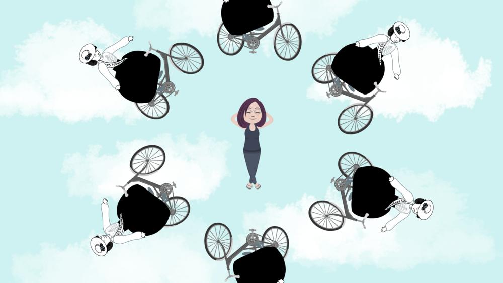a girl needs a bike  ANIMATED DOCUMENTARY