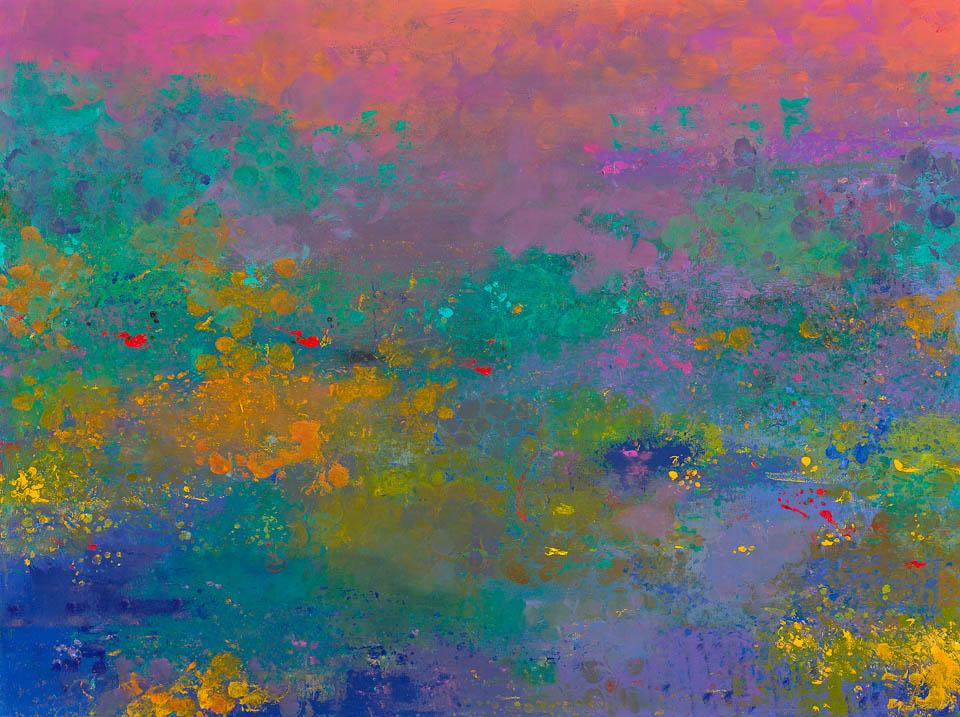Pond with Magenta Sky