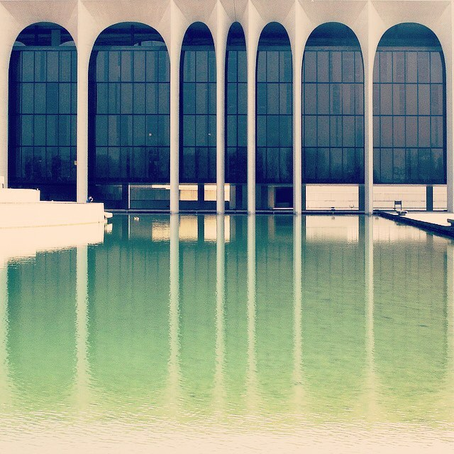 Happy Birthday Oscar Niemeyer... 1907-2012.. nearly 105 years of creating some of the most timeless, modern and musical buildings our civilization has witnessed.  Palazzo Mondadori - Milano, Italy   1968
