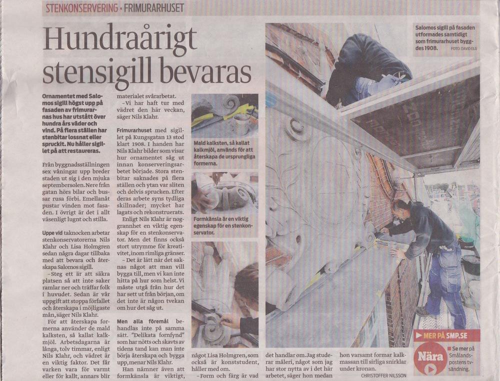 Smålandsposten 19 September 2014