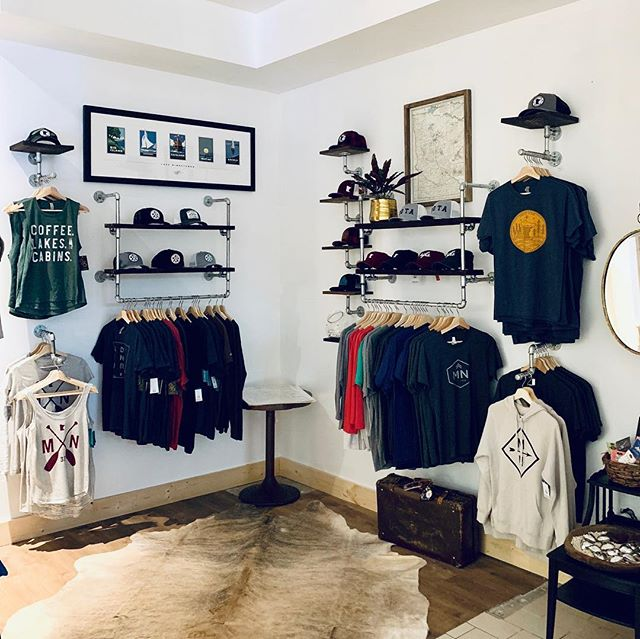 New clothing area INSTALLED at our @ridgedalecenter location!  From cozy spring sweatshirts to our all-natural bath + body lines, you'll love our fresh, clean aesthetic!! #springredo #springfashion #sotaclothing #mnhats #shoplocal #shopsmall #averagebros