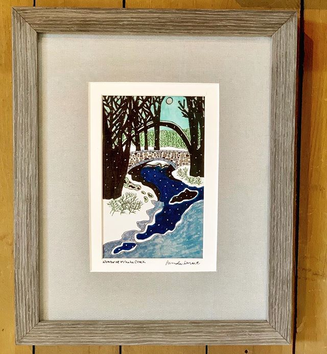 We're not loving the snow either, but it does give us a chance to showcase our newest addition: Pamela Dorset -you'll find her colorful, sketchy prints framed and unframed at both of our locations @southdalecenter @ridgedalecenter @piccadillyprairie #calhounbeachframing #minnehahafalls #minnehahacreek #lakecalhoun #lakeharrietbandshell #mplsart #downtownmpls