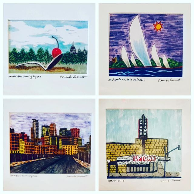 Happy World Art Day!  Today we're featuring our newest artist, Pamela Durant.  Her sketchy, colorful prints are the perfect little homage to add in a kitchen, bathroom, or hallway- anywhere you need a pop of happy!  Available at BOTH locations- framed, unframed, and as greeting cards!! #mpls #spoonandcherry #uptownmpls #calhoun #bdemakaska #downtownmpls #mplsdowntown #worldartday2019