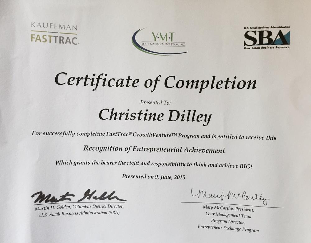 Christine-EntrepreneurExchCert