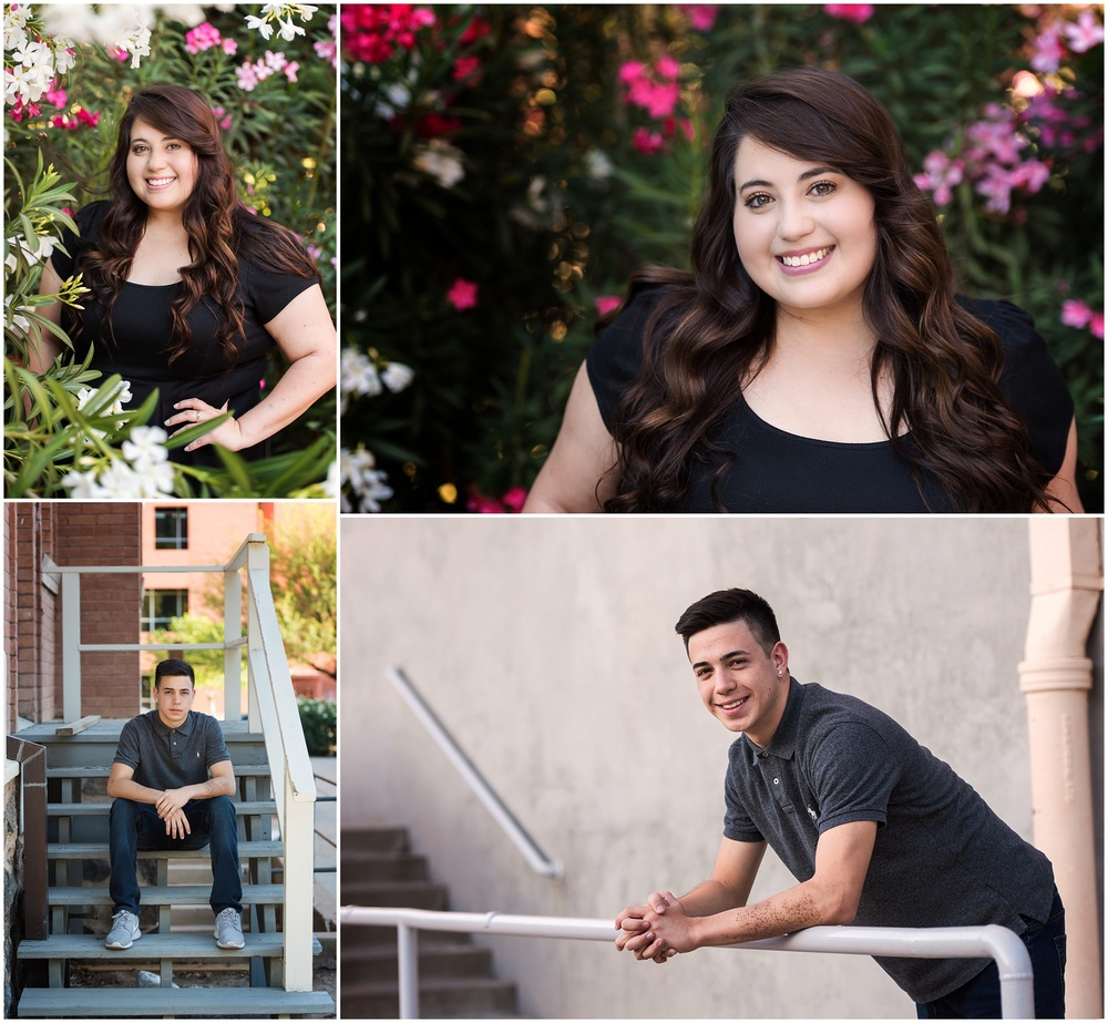 sibling seniors pueblo high school and university of high school senior portraits