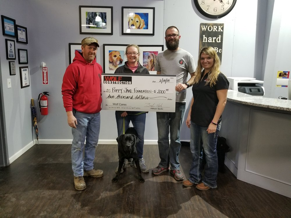 Puppy Jake Foundation  - Puppy Jake Foundation is dedicated to helping military veterans through the assistance of well bred, socialized and professionally trained service dogs.   Nominated by Michael Jennings.