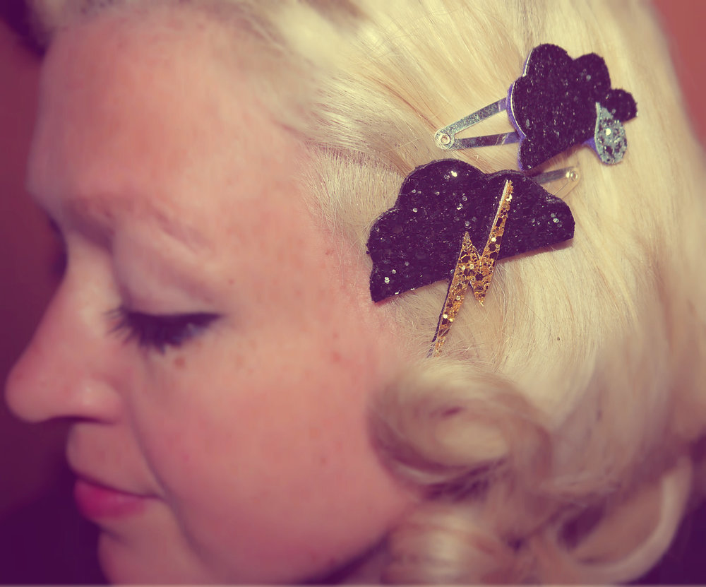 Stormy Hair Clips, Set of Two - £8.00