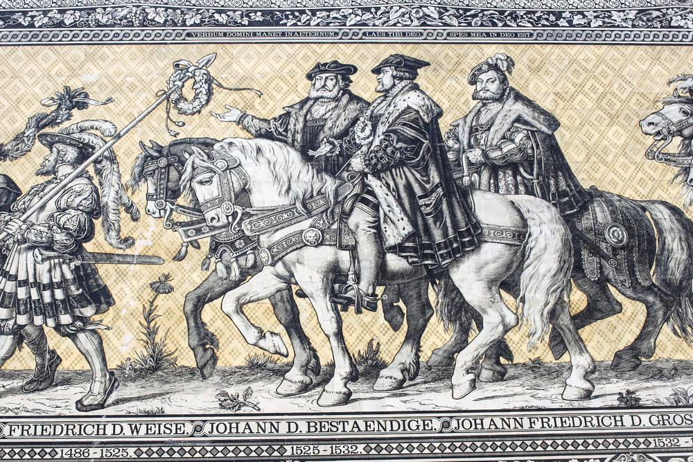 Electors of Saxony- Frederick III, John, and John Frederick I.